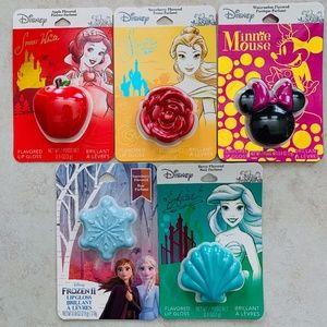 Disney Flavored Lipgloss Princess Lot NWT